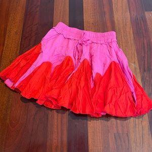 Main Strip Skort Pink